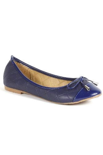 Go Tendance - Bailarinas para mujer azul - Bleu Marine