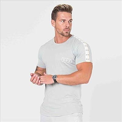 NUASH Ropa Deportiva Camiseta Deportiva para Correr Marca para Hombre Camiseta Extensible Camiseta de Manga Corta para Ejercicios de Verano Camiseta de algodón Bodybuilding Camisa Blanca XXL Gris: Amazon.es: Deportes y aire