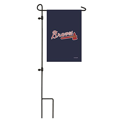 Ashley Gifts Customizable Embroidered Garden Size MLB Flag, Atlanta ()