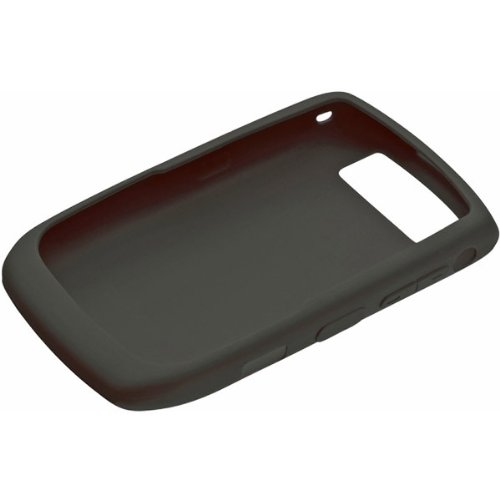 OEM BLACK Blackberry Silicone Rubber Gel Skin Case Cover HDW-18963-001 for Curve 8900 Javelin - Cover Blackberry Javelin