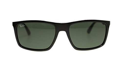Ray Ban Mens Sunglasses RB4228 622771 Black Green Lens 58mm - Ray Sunglasses And Ban White Black