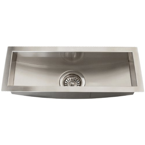Stainless Steel 16 Gauge Undermount Kitchen Bar Trough Sink Strainer Square
