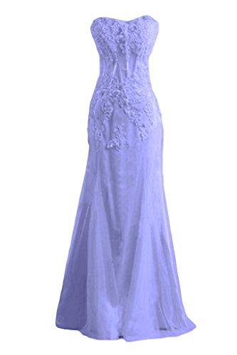En forma de corazón de la Toscana nórdicas de tul de novia vestidos de novia con punta por la noche larga de fiesta vestidos de bola virgen Lavanda