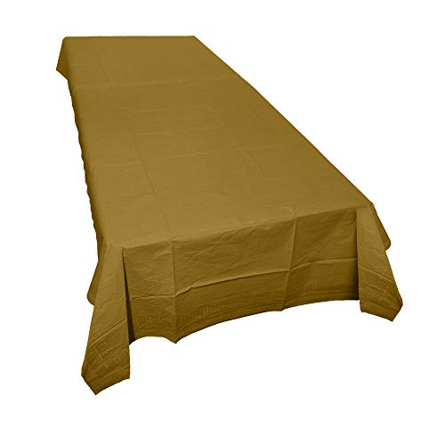 (SparkSettings Disposable Table Cover Absorbent Classy Paper Table Cover Picnic Party Graduation Table Covers Perfect for Casual or Elegant Events - Gold, )