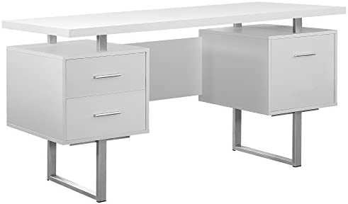 Monarch 60 Inch Office Computer Desk w/ Filing Drawer 3 Drawer Filing Cabinet