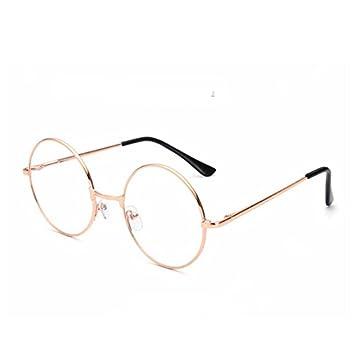 ab32cc0291 Image Unavailable. Unisex Glasses Round Metal Frame Clear Lens Vintage    Fashion Harry Potter Gold
