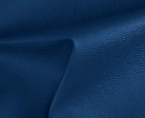 0,50 Metros de Polipiel para tapizar, Manualidades, Cojines o forrar Objetos. Venta de Polipiel por Metros. Diseno Solar Color Azul Ancho 140cm