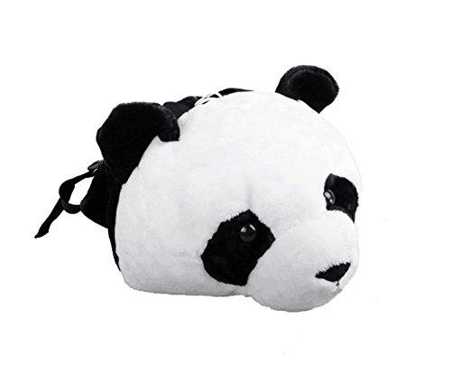 Domineering backpack stuffed tiger head 3D simulation personalised shoulder Bag Animal head shoulders bag (large, - Animal Personalised