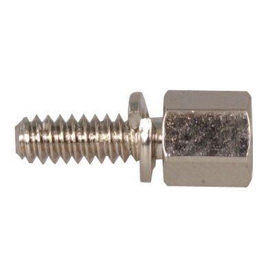 SEMS Jack Screws - Male #4-40 x 3/16 (OD) x 3/8 (Body Length) x 3/8 (Male Thread Length), Steel, Zinc Trivalent Plating,WITH SPLIT LOCK WASHER (.192/.200 OD), (QUANTITY: 1000) P/N: 4750-4-S-12-LOC-JF