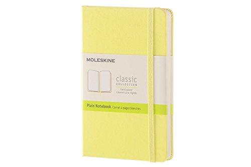 Moleskine Classic Notebook, Pocket, Plain, Citron Yellow, Hard Cover (8051272893670)