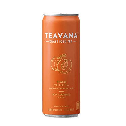 (Teavana Craft Iced Tea, Peach Green Tea, 12-Fluid Ounce Cans (Pack of 12))