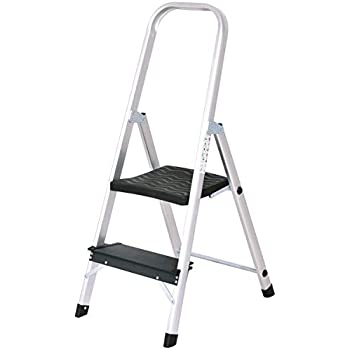 Giantex Aluminum 2 Step Ladder Folding Stepladder With Non