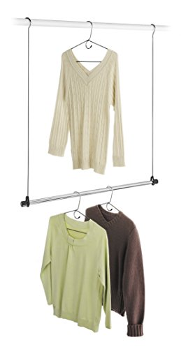 whitmor double rod closet extender new ebay. Black Bedroom Furniture Sets. Home Design Ideas