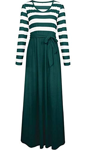 Nerastro Delle Casual Abbigliamento Rotondo Verde Colletto Cuciture Banda Donne Maxi Stampato Club Jaycargogo 67dxqSwS