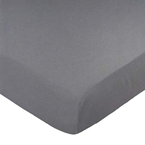 SheetWorld Fitted Sheet, Dark Grey, 100% Cotton Jersey, for sale  Delivered anywhere in USA