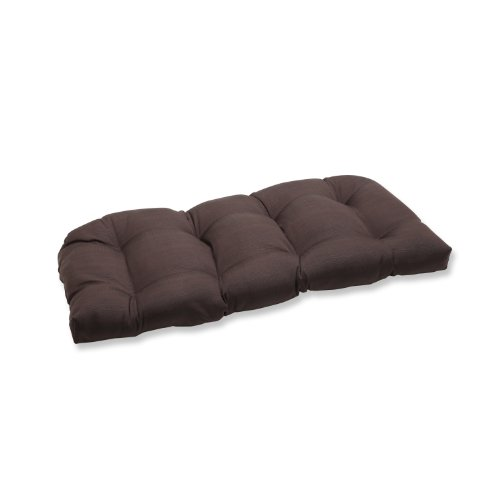 Pillow Perfect Outdoor Chocolate Loveseat