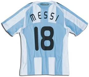 Amazon Com Argentina National Team 08 10 Messi 18 Home Soccer Jersey Athletic Jerseys Clothing