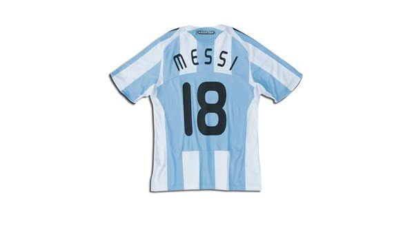 2d466660e Amazon.com   Argentina National Team 08 10 MESSI  18 Home Soccer Jersey    Athletic Jerseys   Sports   Outdoors