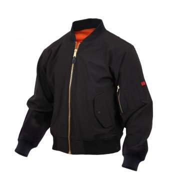 Rothco 99750 Soft Shell MA-1 Flight Jacket:XSXL【Black】ロスコ フライトジャケット B01N69PSRR  Small