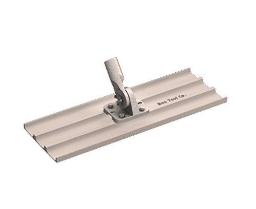 Bon 12-967 24-Inch by 8-Inch Square End Magnesium Concrete Bull Float with Universal Threaded Handle Bracket
