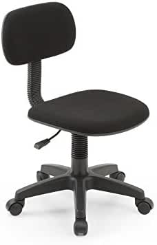 Merveilleux HODEDAH IMPORT Hodedah Armless, Low Back, Adjustable Height, Swiveling Task  Chair With