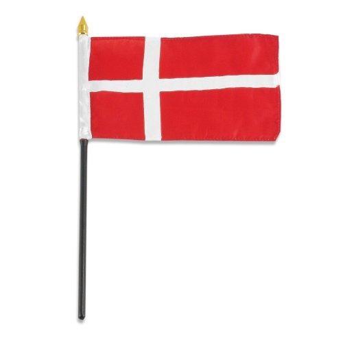 US Flag Store Denmark Flag, 4 by 6-Inch