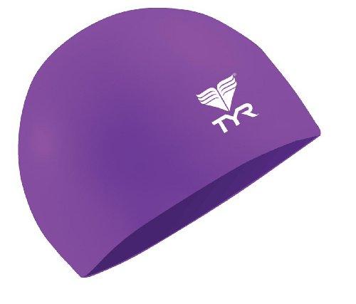 TYR Latex Swim Cap, Purple ()