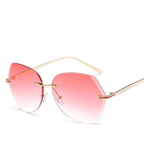 Aoligei Film couleur océan sans frame lunettes de soleil fashion diamants cadre métallique Dame lunettes de soleil mode lunettes de soleil LGYoRnKyUy