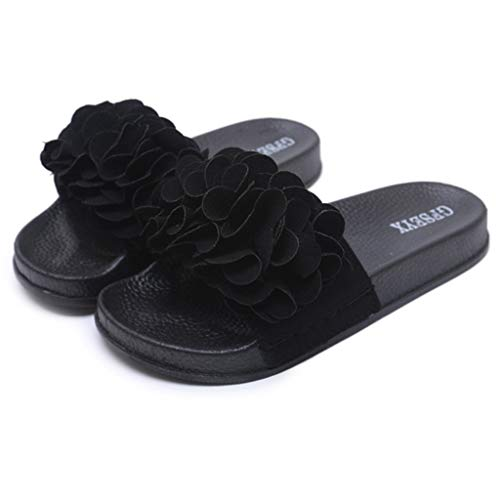 Toimothcn Slides Sandals Women Indoor and Outdoor Flower Sandals Slipper Beach Shoes - Trim Hooded Stud Jacket