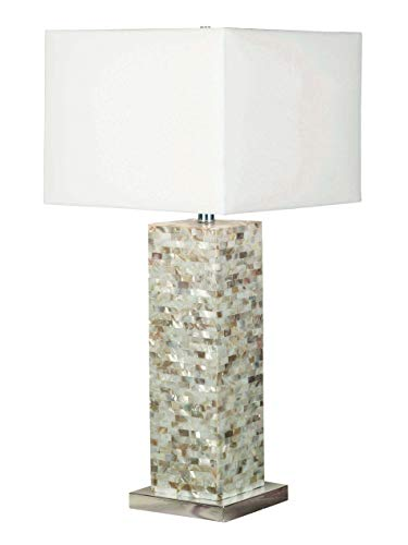 Kenroy Home 32025MOP Table Lamp, Mother of Pearl Finish (Shade Pearl Of Mother Lamp)