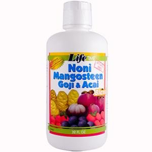 Noni Mangosteen Goji Acai Juice Blend LifeTime 32 oz Liquid (Noni Goji Berry Juice compare prices)