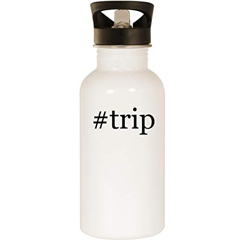 #trip - Stainless Steel Hashtag 20oz Road Ready Water Bottle, White