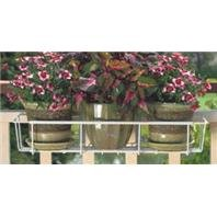 Avant Garden F2436-W CobraCo Adjustable Flower Box Holder 24''-36'', White by Wetsel