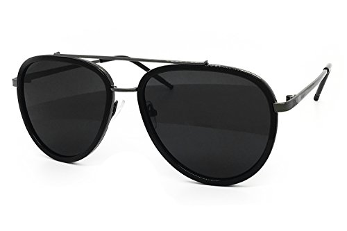 O2 Eyewear 66449 Premium Aviator Vintage Hippie Retro Womens Mens Sunglasses (Premium, PLATIUM- - Aviators Oversized Black
