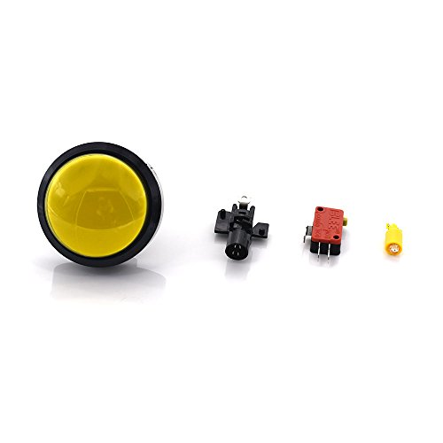 WINIT 100mm Dome 12V LED Illuminated Big Push Button with Microswitch for Arcade Video Games Machine Convex ()