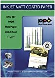 """PPD Inkjet Matt Coated Photo Quality Paper Heavy 11x17"""" 49lbs 180gsm 9.5mil. X 100 Sheets (PPD057-100)"""