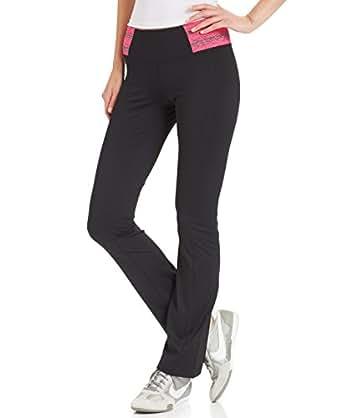 Ideology Women's Slim-Fit Bootcut Active Pants X-Small Black