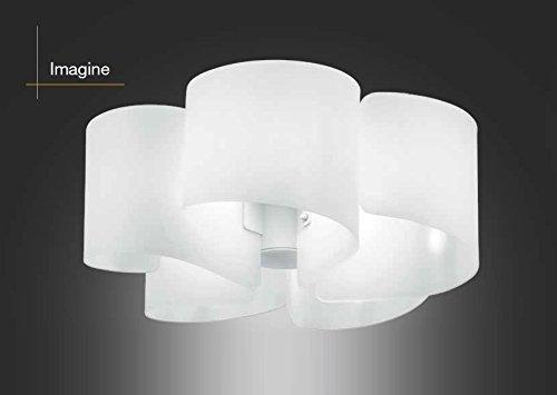 Plafoniere Soffitto E27 : Plafoniera in vetro bianco da soffitto luci e serie imagine