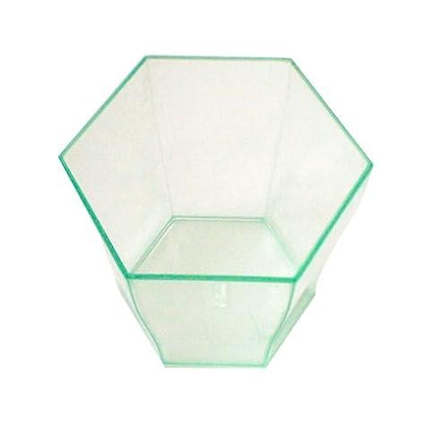 Sechseckiges Glas Für Häppchen 4 -7X4 -6 Cm Wassergrün Ps Units-Pack: 864