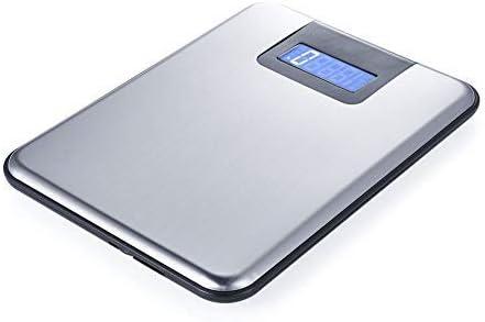 Escaleras Digital Kitchen de acero inoxidable, bandeja de pesaje electrónica, plato de escalera, diseño preciso, escalera, pesa, cocina, pesar, alimentar hasta 15 kg: Amazon.es: Hogar