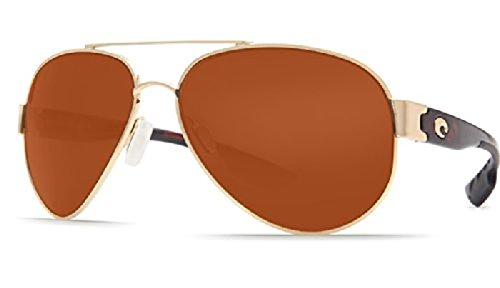 Costa South Point Sunglasses Gold / Copper Glass 580G & Neoprene Classic - South Point Costa Sunglasses