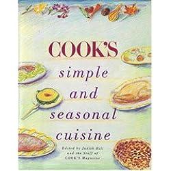 Cook's simple and seasonal cuisine