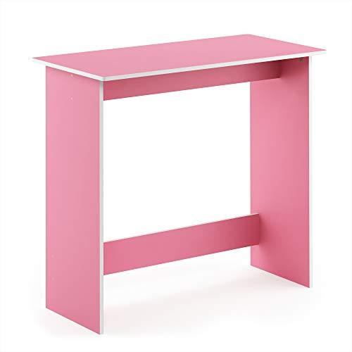 FURINNO 14035PI Simplistic Study Table, Pink