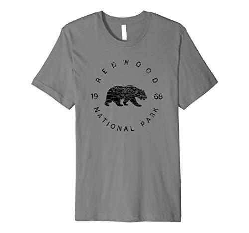 Redwood National Park USA Parks Travel California Adventure Premium T-Shirt (Best Camping In Redwood National Park)