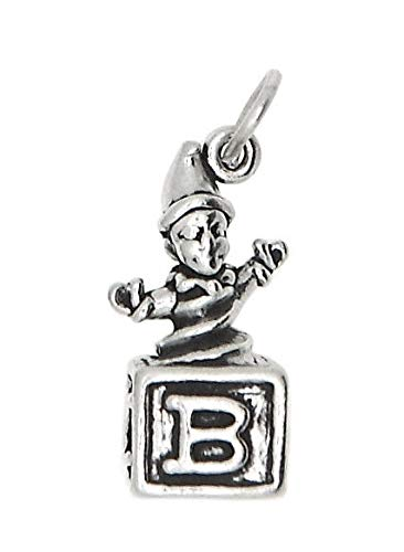 Sterling Silver Jack in The Box Charm/Pendant Jewelry