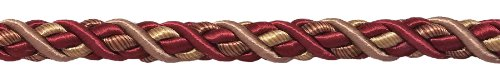 DÉCOPRO 10 Yard Value Pack of Large Burgundy Taupe Baroque Collection 7/16