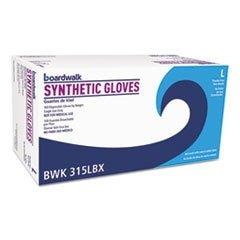 Boardwalk 315LCT Powder-Free Synthetic Vinyl Gloves Large Cream 4 mil 1000/Carton