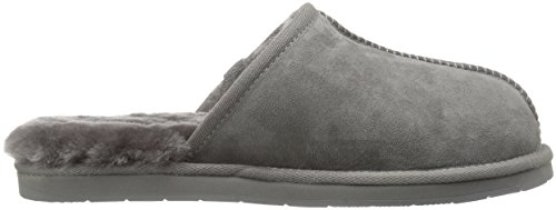 Men's 206 Union Collective Shearling Slide Slipper Suede Charcoal FgwHxg