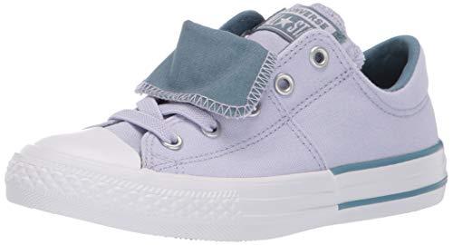 Converse Girls Kids' Chuck Taylor All Star Maddie Signature Slip On Sneaker,  Oxygen Purple/Celestial Teal, 12 M US Little Kid ()