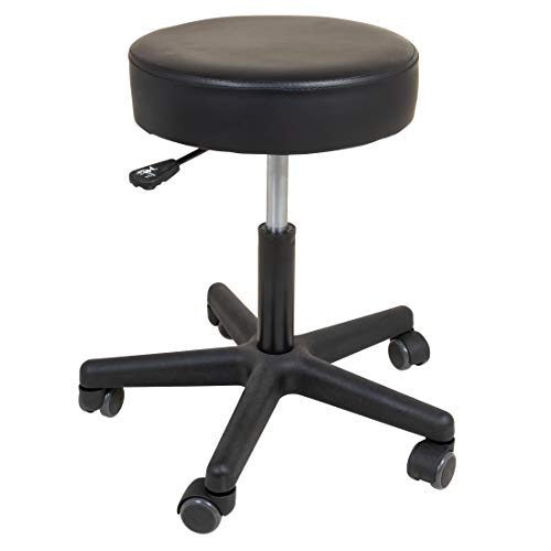 Roscoe Medical Rolling Stool - Stool With Wheels - Round Adjustable Work Stool, For Work, Office, Desk, Salon, Drafting, Spa ()
